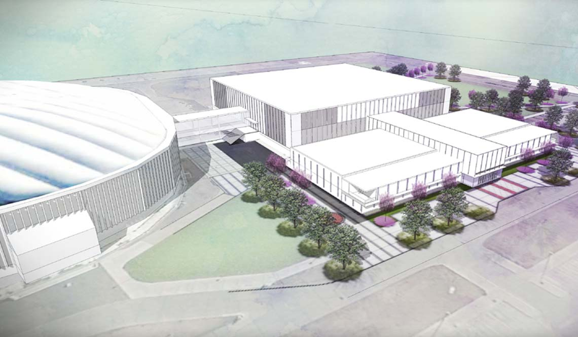 Basketball Practice Facility - Rendering 1
