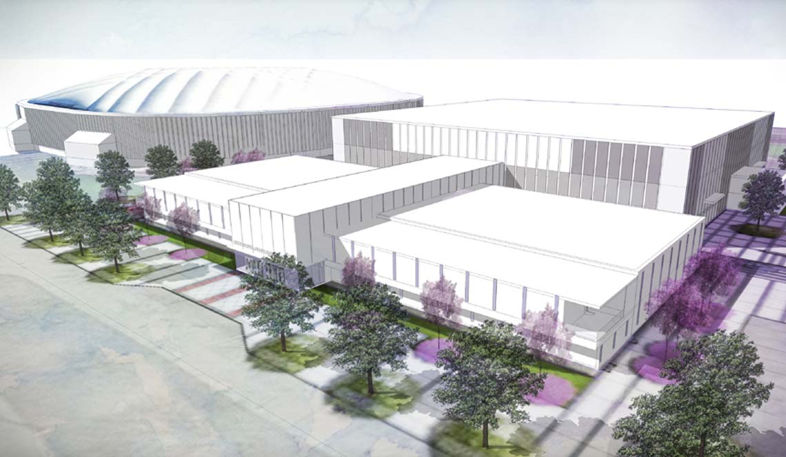 Basketball Practice Facility - Rendering 2