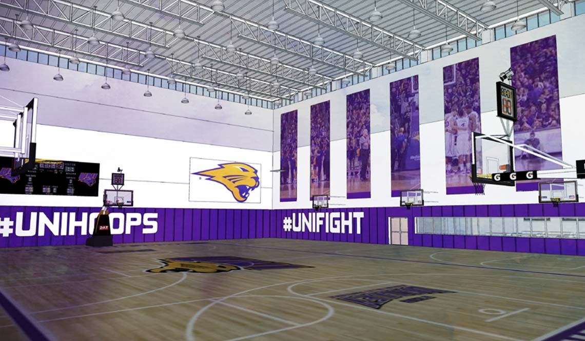 Basketball Practice Facility - Rendering 3