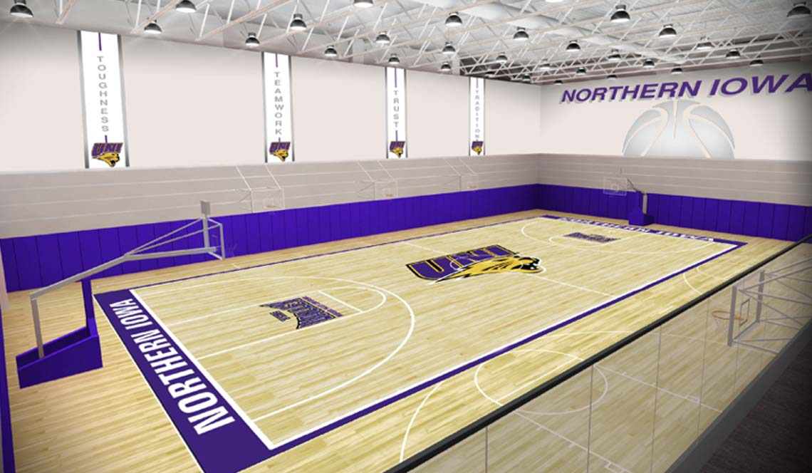 Basketball Practice Facility - Rendering 4