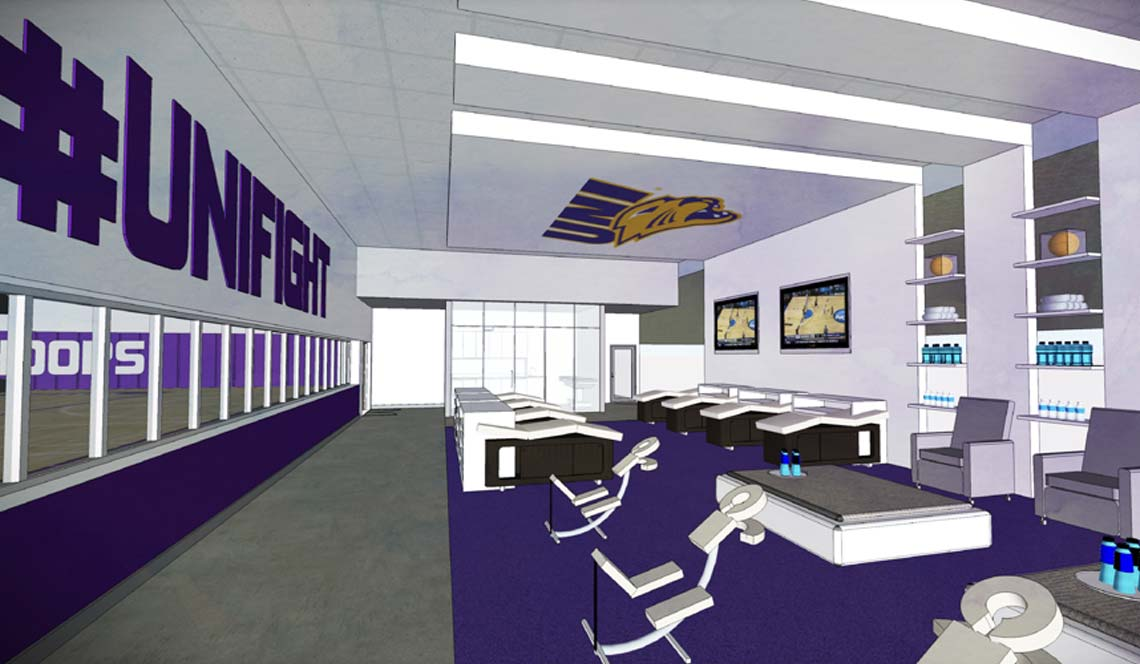 Basketball Practice Facility - Rendering 5