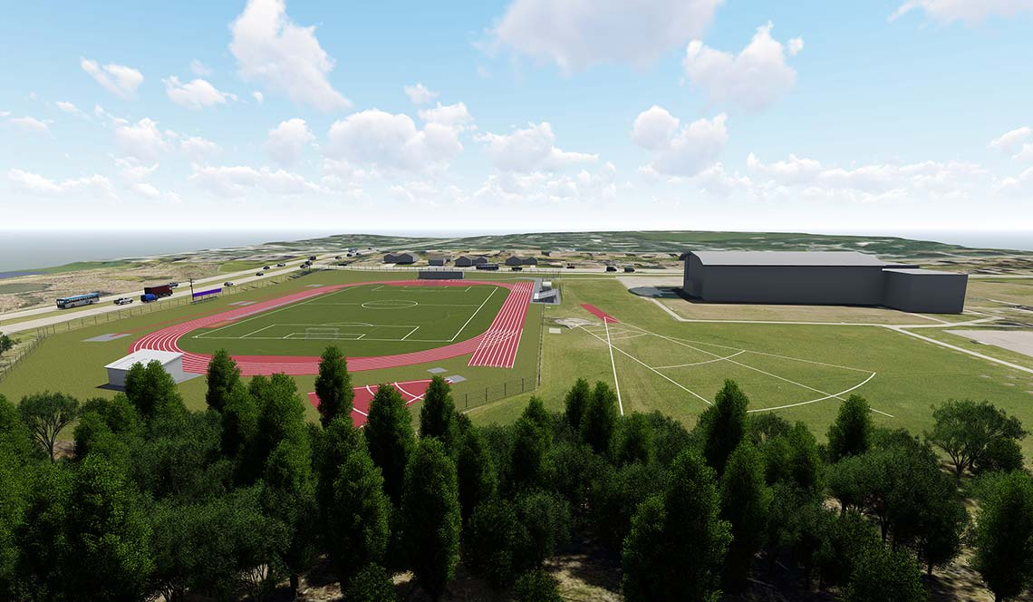 Outdoor Track Replacement - Rendering 1