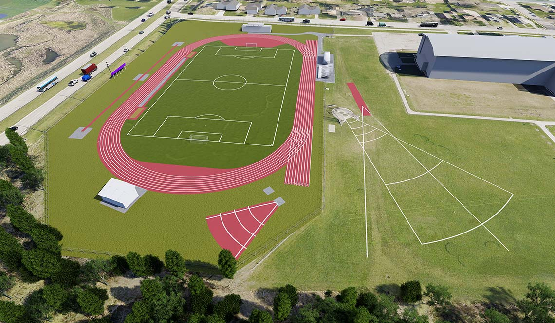 Outdoor Track Replacement - Rendering 2