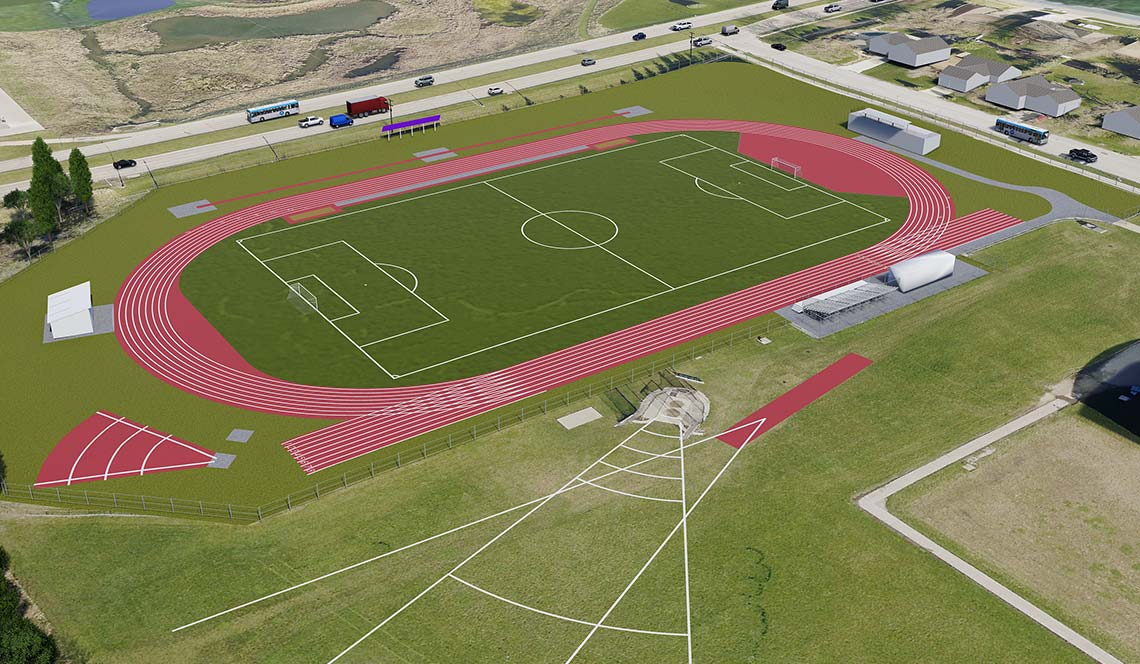 Outdoor Track Replacement - Rendering 3